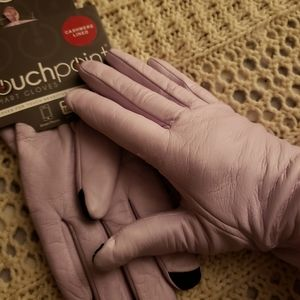 NWT💞TOUCH POINT LEATHER & CASHMERE GLOVES💞
